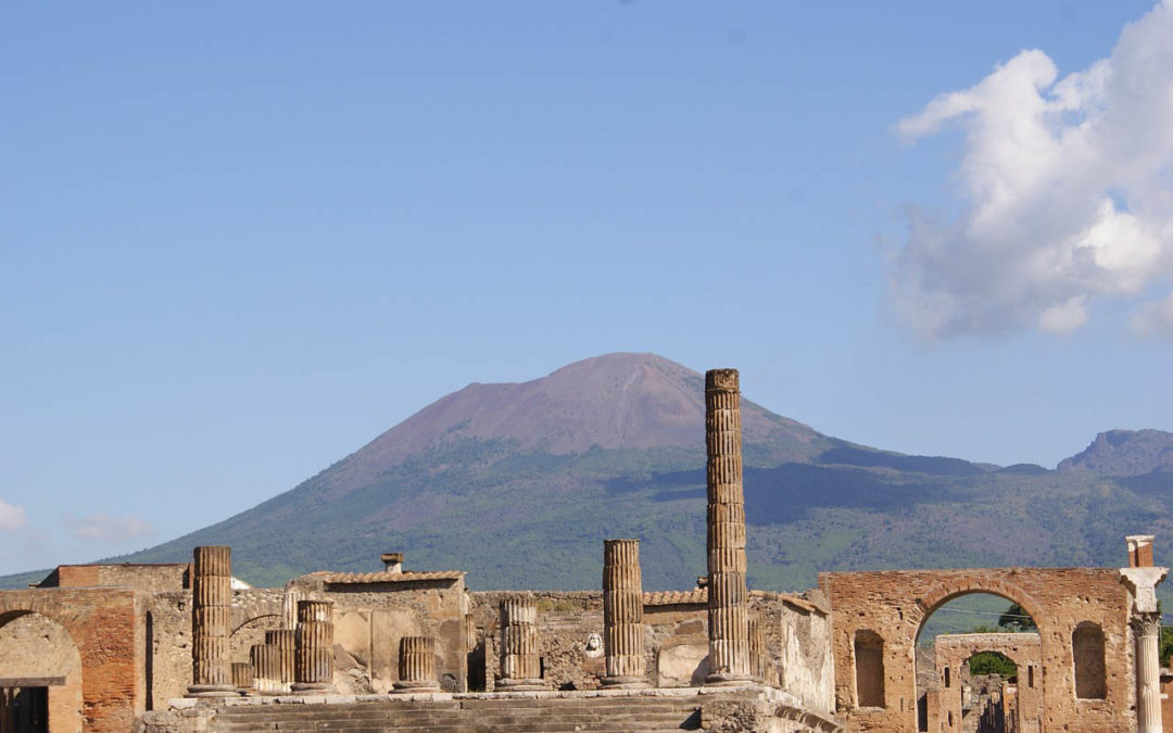How did the people of Pompeii become petrified?