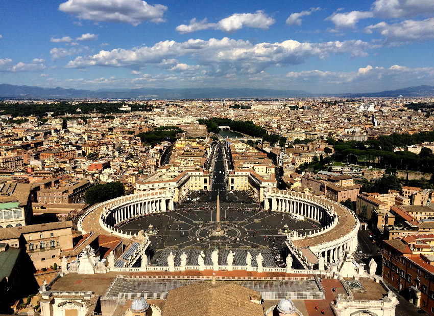 The Vatican from the above