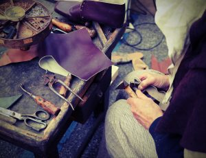 florentine leather: a cobbler at work