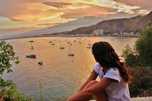 Taormina: the mediterranean sea