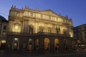 italian theatres: La Scala Opera House Milan